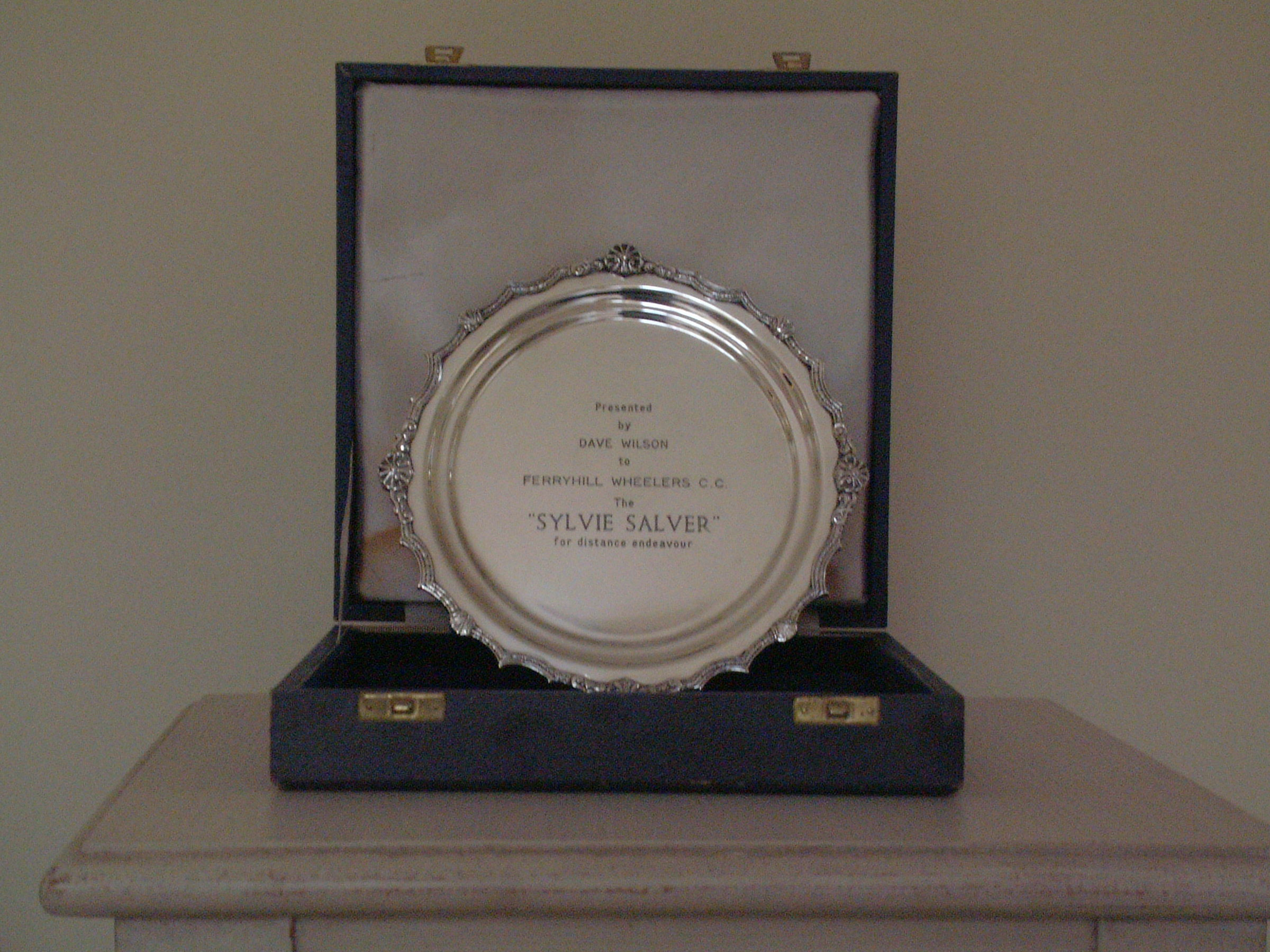 The Sylvie Salver: awarded to the 12/24 hour champion.